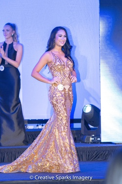 Queenly size 2 Fernando Wong Gold Train evening gown/formal dress