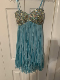 La Femme Blue Size 2 Fun Fashion Cocktail Dress on Queenly