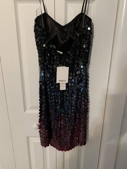 Shali K Black Size 6 Sorority Formal Tall Height Cocktail Dress on Queenly