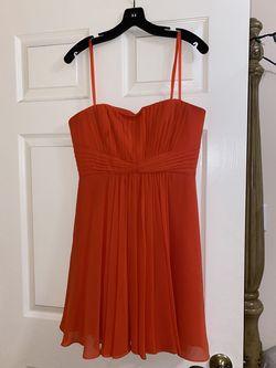BCBG Orange Size 8 Cocktail Dress on Queenly