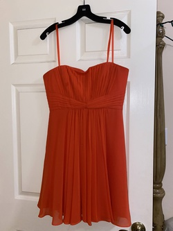Queenly size 8 BCBG Orange Cocktail evening gown/formal dress