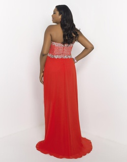 Queenly size 16 BLUSH TOO PLUS SIZE PROM Red A-line evening gown/formal dress