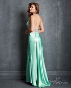 Style 7066 Night Moves Blue Size 10 Side slit Dress on Queenly