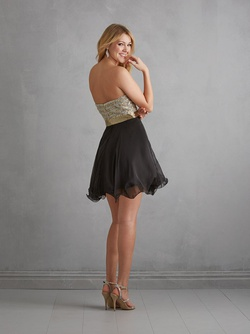 Style 7203 Madison James White Size 12 Sorority Formal Cocktail Dress on Queenly