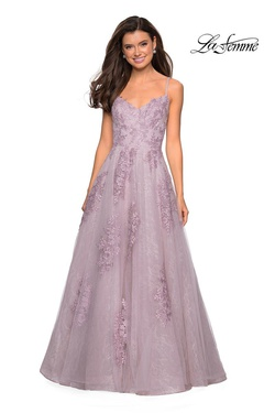 Style 27492 La Femme Pink Size 0 Ball gown on Queenly