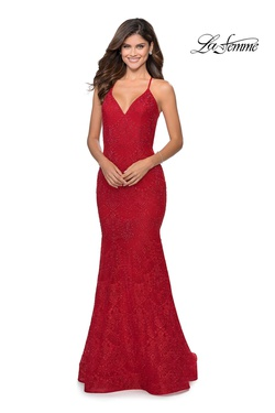 Style 28643 La Femme Red Size 2 Mermaid Dress on Queenly