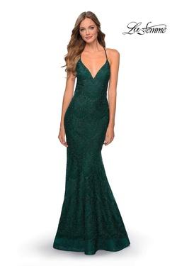 Style 28643 La Femme Green Size 6 Mermaid Dress on Queenly