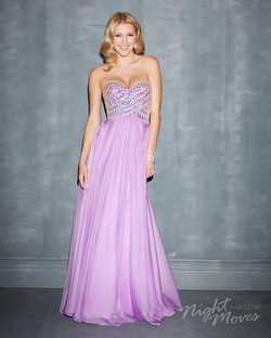Style 7006 Madison James Purple Size 4 A-line Dress on Queenly