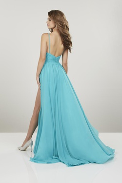 Style 14912 PANOPLY Yellow Size 8 Side slit Dress on Queenly