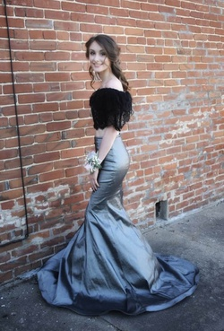 Black Size 0 Mermaid Dress on Queenly