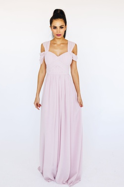 Style B25D01 Bariano Pink Size 8 Tall Height Wedding Guest Straight Dress on Queenly