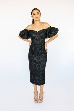 Queenly size 10 Bariano Black Cocktail evening gown/formal dress