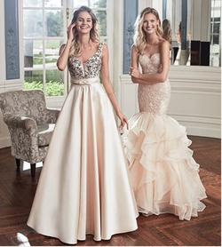 Queenly size 10 Alyce Paris Gold Mermaid evening gown/formal dress