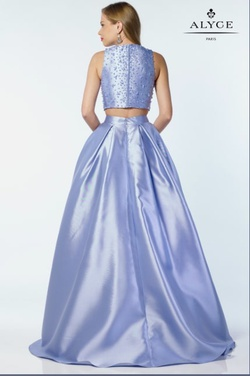 Style 6789 Alyce Paris Blue Size 2 Jewelled Tall Height Ball gown on Queenly