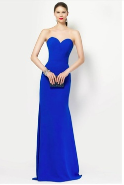 Style 27131 Alyce Paris Royal Blue Size 6 Straight Dress on Queenly