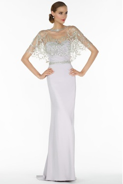 Style 27132 Alyce Paris White Size 6 Belt Tulle Sweetheart Tall Height Straight Dress on Queenly