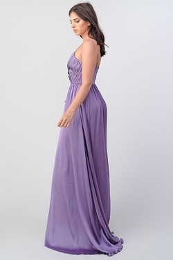 Style 1703 Minuet Purple Size 4 Tall Height Side slit Dress on Queenly