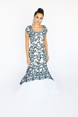 Style P505M McKenzie Rae Multicolor Size 8 Prom Mermaid Dress on Queenly