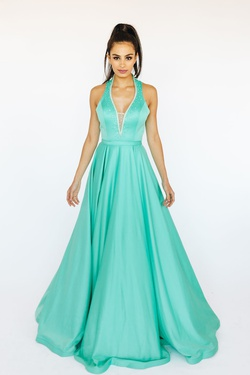 McKenzie Rae Green Size 6 Pageant Silk A-line Dress on Queenly