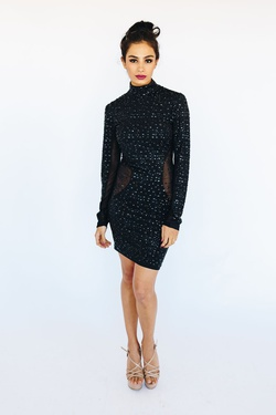 Style 53615 Kiki Riki Black Size 6 Homecoming Cocktail Dress on Queenly