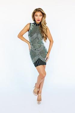 Style 53801 Kiki Riki Black Size 2 Interview Cocktail Dress on Queenly