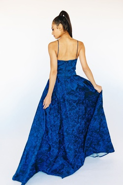 Style LD1564 Mia Paluzzi Blue Size 8 Prom Tall Height A-line Dress on Queenly