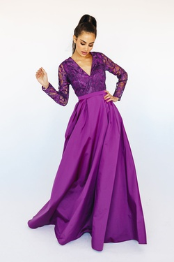 Queenly size 10 Mia Paluzzi Purple Ball gown evening gown/formal dress