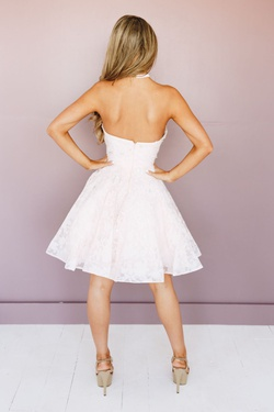 Style 1711P2253 Terani Couture White Size 8 Sorority Formal Tall Height Cocktail Dress on Queenly