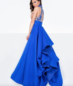 Style 1712P2884 Terani Couture Blue Size 6 Pageant Prom Ball gown on Queenly