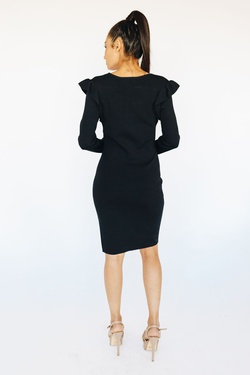 Style B3750 Wow Black Size 6 Tall Height Wedding Guest Cocktail Dress on Queenly
