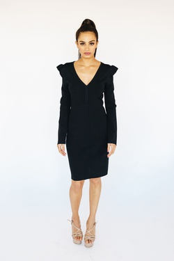 Style B3750 Wow Black Size 10 Tall Height Wedding Guest Cocktail Dress on Queenly