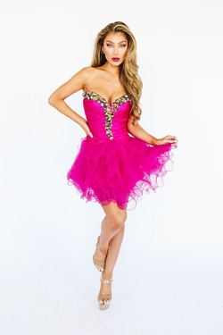 Style 2912 Sherri Hill Pink Size 6 Homecoming Cocktail Dress on Queenly