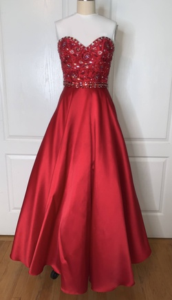 Red Size 00 A-line Dress on Queenly