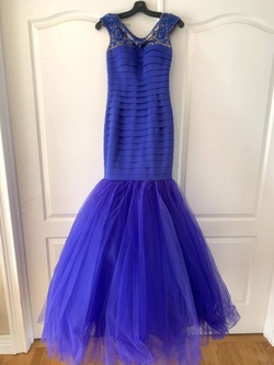 Sherri Hill Blue Size 00 Cap Sleeve Pageant Mermaid Dress on Queenly