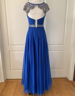 Sherri Hill Blue Size 00 Cap Sleeve Pageant Straight Dress on Queenly