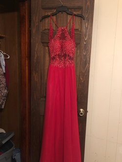 Blondie Nites Red Size 4 Short Height Prom Straight Dress on Queenly