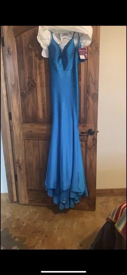 Queenly size 0 Ellie Wilde Blue Straight evening gown/formal dress
