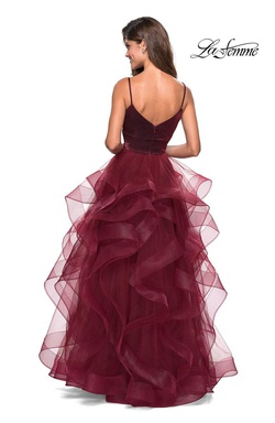 Style 27502 LA FEMME Red Size 6 Ball gown on Queenly