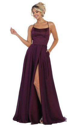 Style 71934  Sparkle Prom by Da Vinci Purple Size 6 Side slit Dress on Queenly