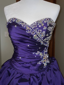 Mori Lee Purple Size 4 Prom Train Dress on Queenly
