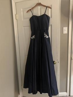 Queenly size 4  Blue A-line evening gown/formal dress