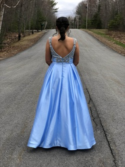 Mac Duggal Light Blue Size 12 A-line Dress on Queenly