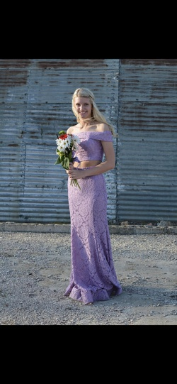 La Femme Purple Size 2 Prom Lavender Mermaid Dress on Queenly