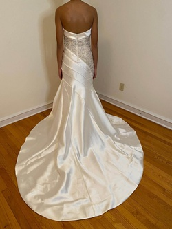 Mac Duggal White Size 4 Pageant Train Dress on Queenly