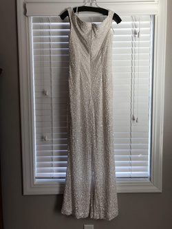 Ashley Lauren White Size 6 Interview Pageant Jumpsuit Dress on Queenly