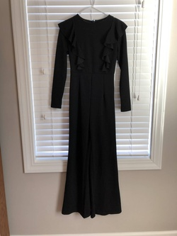 Queenly size 0  Black Jumpsuit evening gown/formal dress