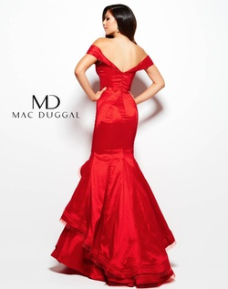 Style 48189 Mac Duggal Red Size 4 Ruffles Teal Mermaid Dress on Queenly