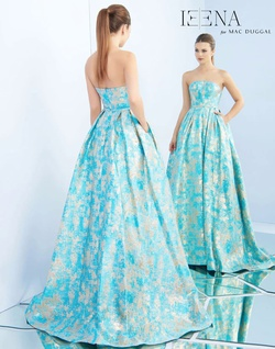 Style 8878i Mac Duggal Blue Size 6 Ball gown on Queenly