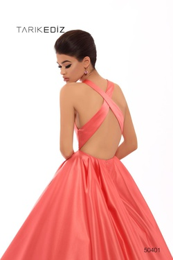 Style 50401 Tarik Ediz Orange Size 2 Prom Ball gown on Queenly