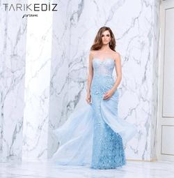 Queenly size 6 Tarik Ediz Blue Mermaid evening gown/formal dress